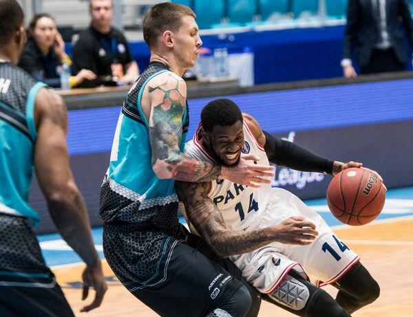 Игровой момент матча Единой лиги ВТБ Астана - Парма