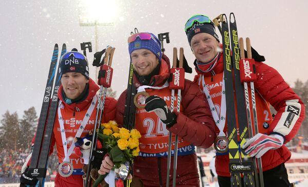 Эрленн Бьёнтегор, Максим Цветков и Йоханнес Бё (слева направо)