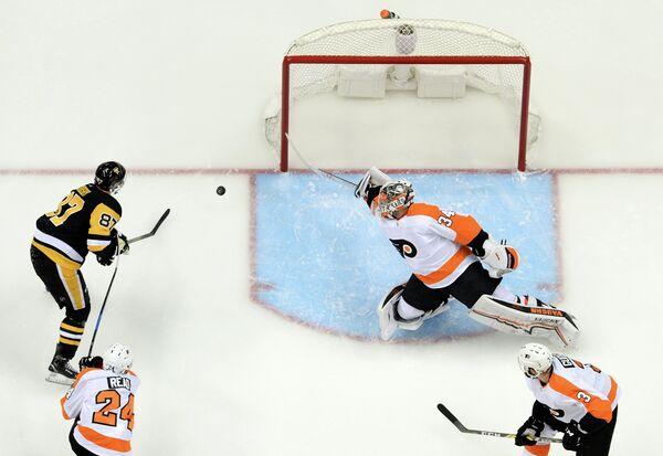 Игровой момент матча НХЛ Питтсбург Пингвинз - Филадельфия Флайерз