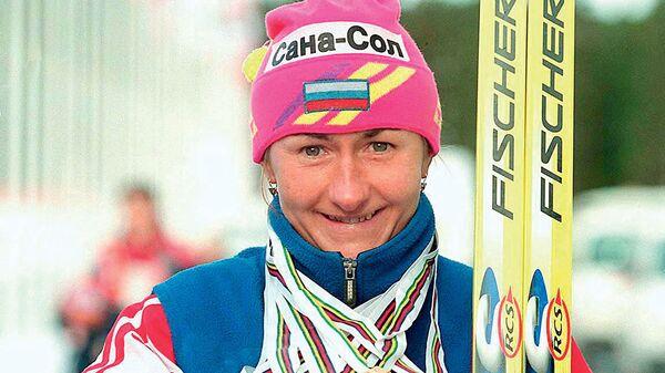 Трехкратная олимпийская чемпионка президент Федерации лыжных гонок России Елена Вяльбе