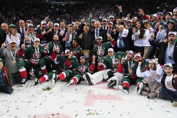Хоккеисты Ак Барса, ставшие обладателями Кубка Гагарина