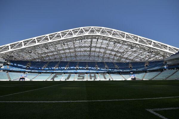 Стадион Фишт, который примет ряд матчей чемпионата мира по футболу 2018