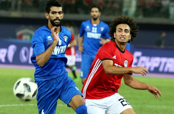 Игровой момент матча Египет - Кувейт