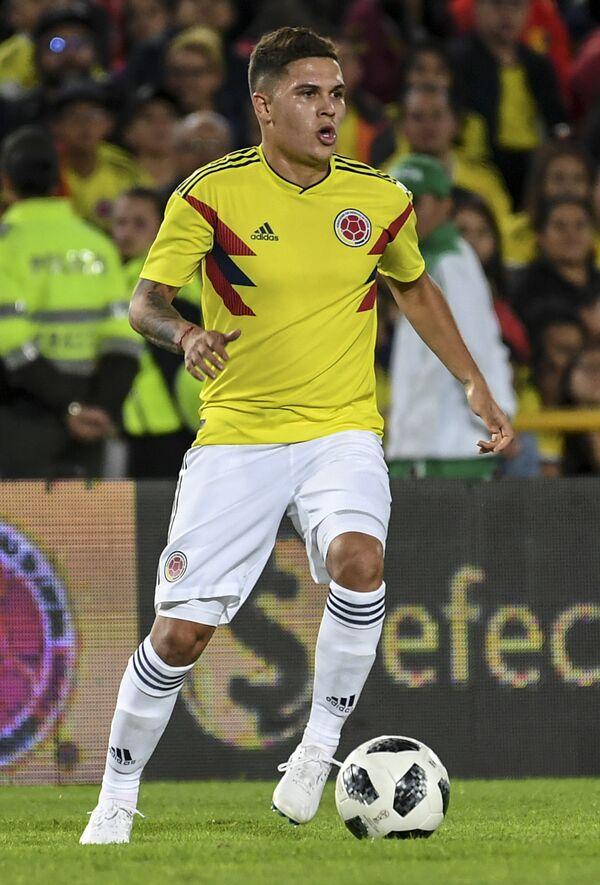 Полузащитник сборной Колумбии Хуан Кинтеро