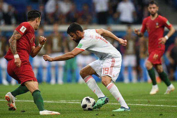 Нападающий сборной Испании Диего Коста