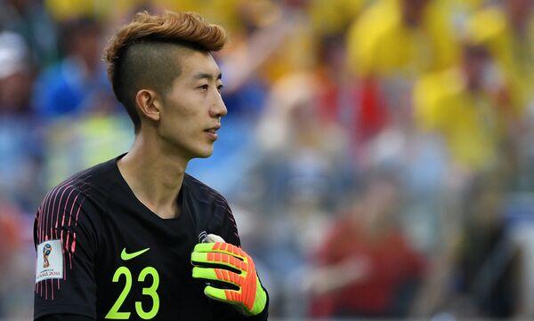 Вратарь сборной Южной Кореи Чо Хён У