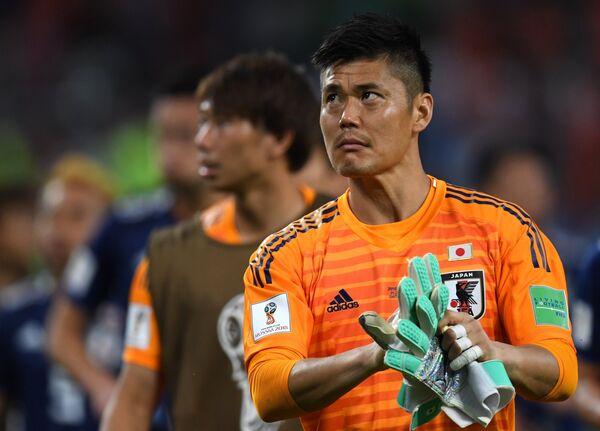Вратарь сборной Японии Эйдзи Кавасима