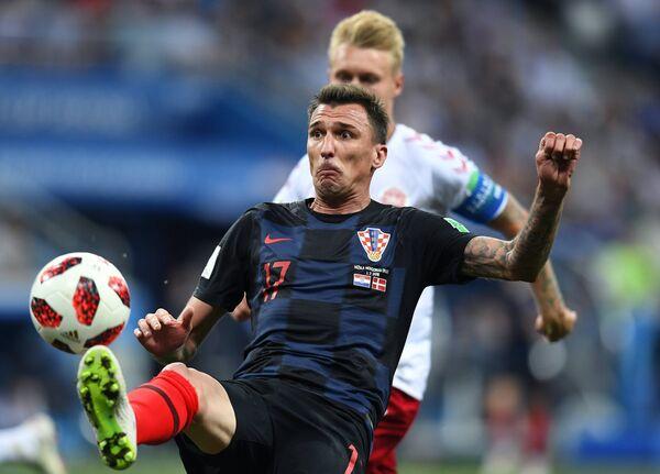 Нападающий сборной Хорватии Марио Манджукич