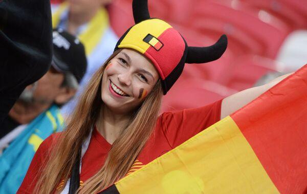 Болельщица сборной Бельгии