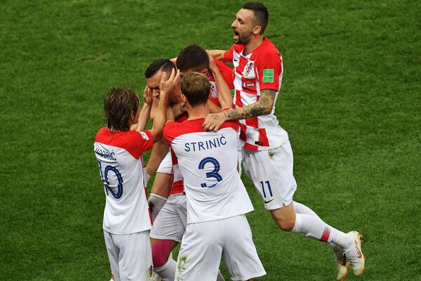 Футбол. ЧМ-2018. Финал. Матч Франция - Хорватия