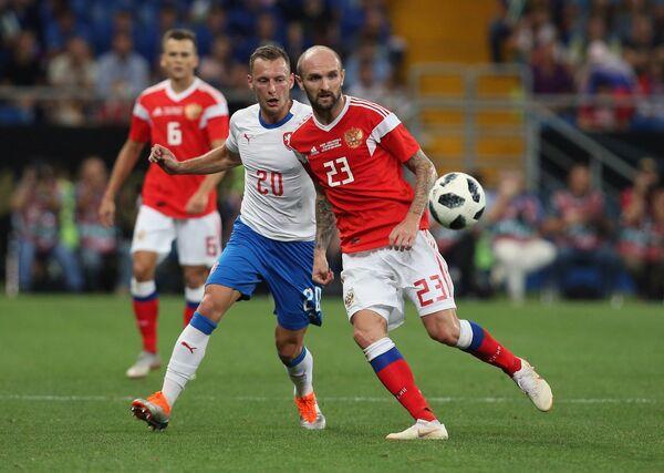 Справа налево: Константин Рауш (Россия) и Владимир Цоуфаль (Чехия)
