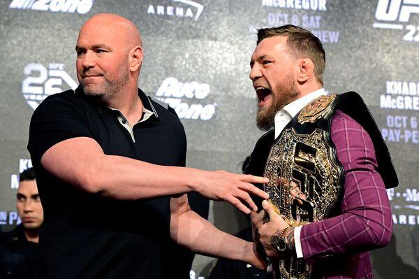 Президент UFC Дэйна Уайт и Конор Макгрегор