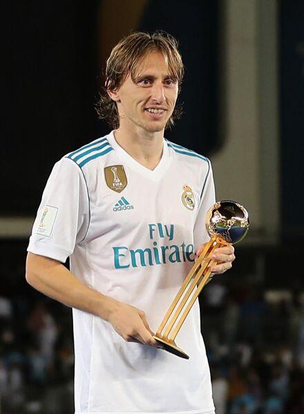 Лука Модрич с наградой лучшему игроку клубного чемпионата мира
