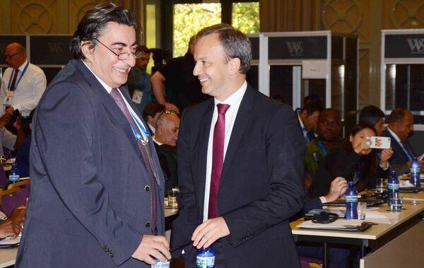 Георгиос Макропулос (слева) и Аркадий Дворкович