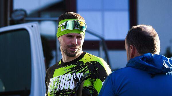 Сергей Устюгов (слева) и тренер сборной России по лыжным гонкам Маркус Крамер