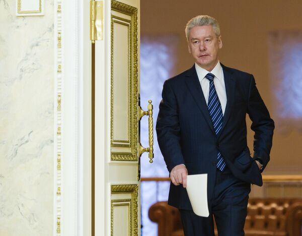 Мэр Москвы Сергей Собянин на заседании правительства Москвы