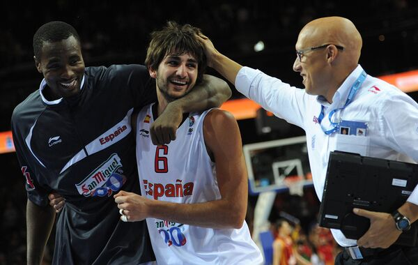 Серж Ибака и Рики Рубио (слева направо)