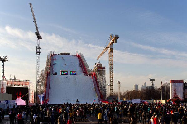 Вид рампы у олимпийского комплекса Лужники