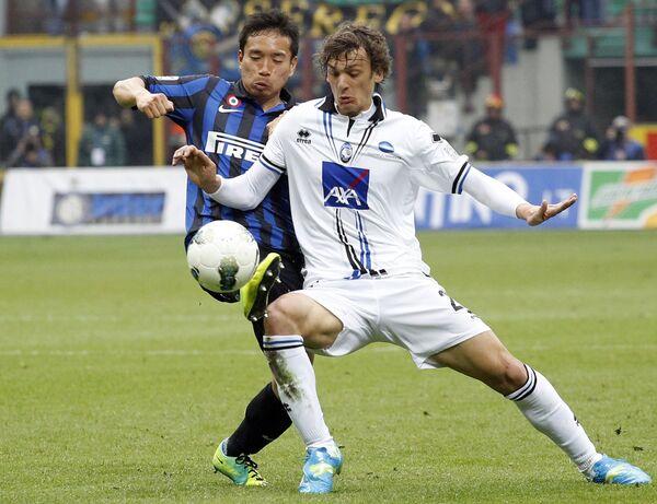 Игровой момент матча Интер - Аталанта