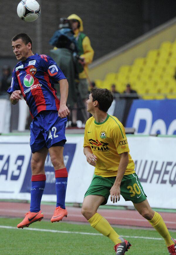 Игровой момент матча ЦСКА - Кубань
