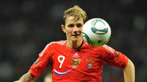 Нападающий сборной России Роман Павлюченко. 2011 год