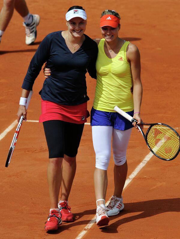 Надежда Петрова и Мария Кириленко (слева направо)