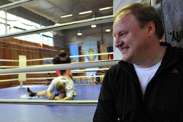 Открытая тренировка А. Поветкина на спортивной базе Чехов
