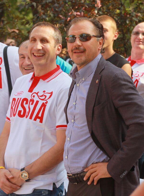 Дэвид Блатт и Александр Красненков (слева направо)