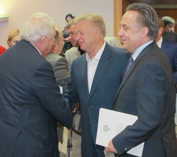 Виталий Смирнов, Леонид Тягачев и Виталий Мутко (слева направо)