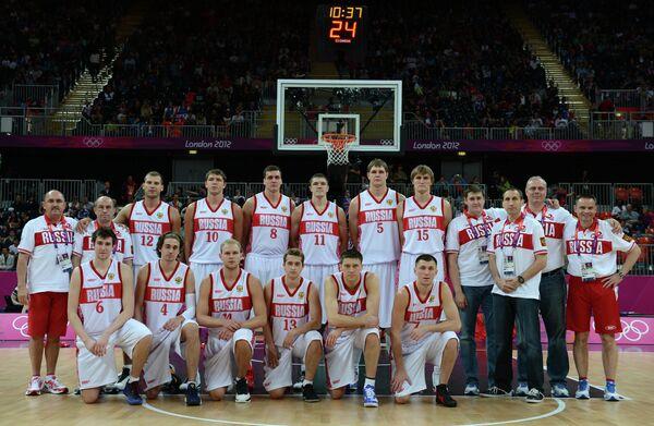 Игроки российской сборной по баскетболу