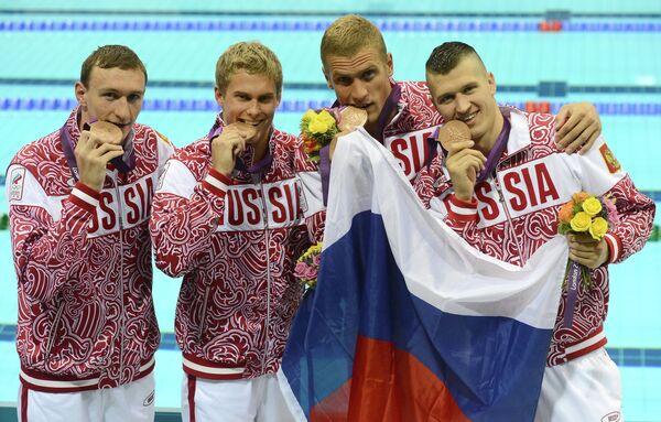Данила Изотов, Владимир Морозов, Андрей Гречин и Никита Лобинцев (слева направо)