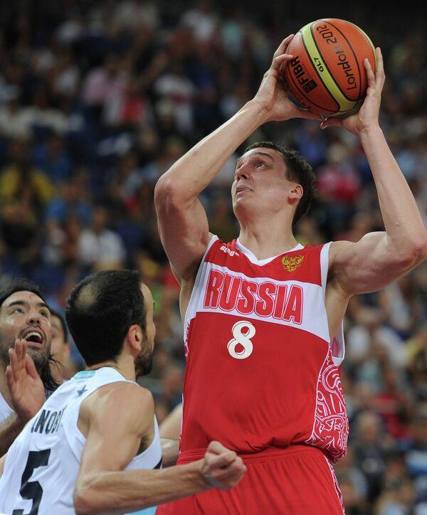 Игровой момент матча Аргентина – Россия