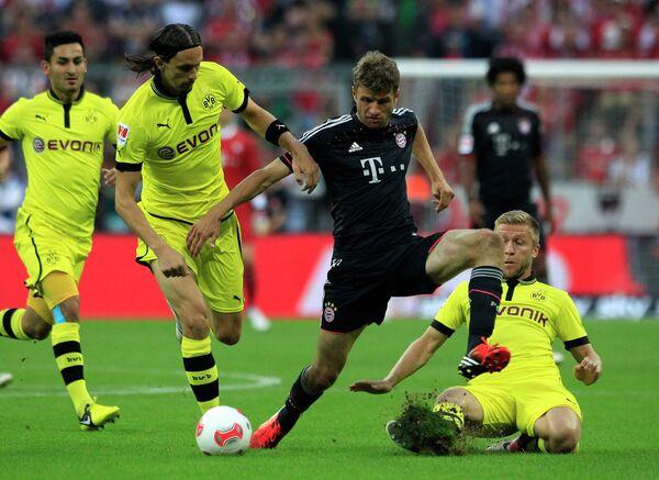 Игровой момент матча Бавария - Боруссия