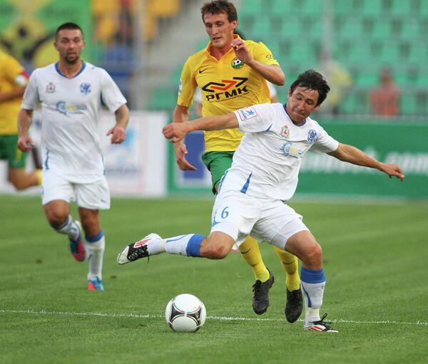 Игровой момент матча Кубань — Волга