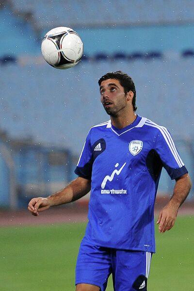 Тренировка сборной Израиля по футболу