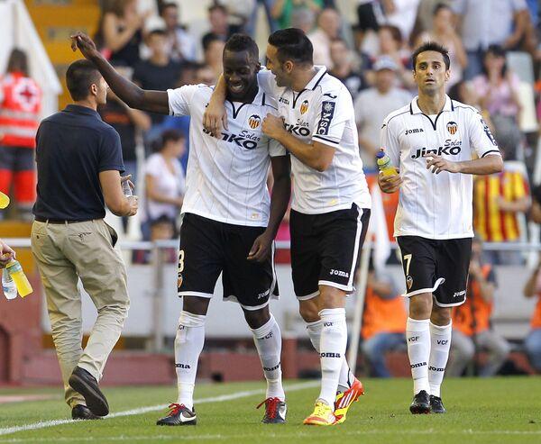 Игровой момент матча Валенсия -Сельта