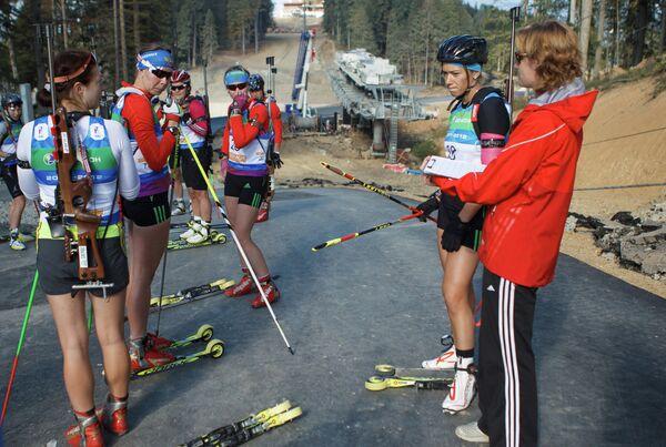 Тренировка женской сборной России