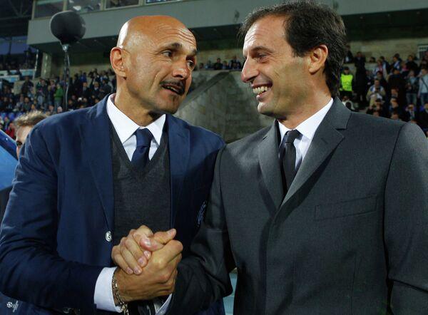 Лучано Спаллетти и Массимилиано Аллегри (слева направо)