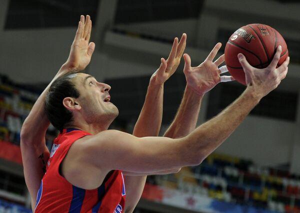 Игровой момент матча ЦСКА - Брозе Баскетс