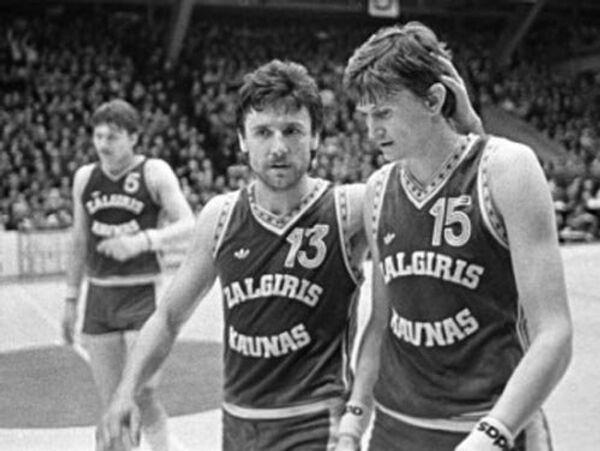 Вальдемарас Хомичюс и Сергей Йовайша (слева направо)