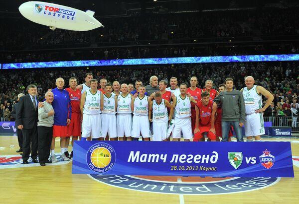 Баскетбол. Матч ветеранов Жальгириса и ЦСКА