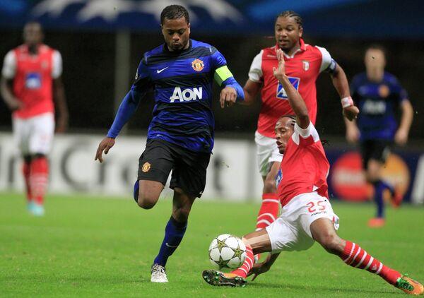 Игровой момент матча Брага - Манчестер Юнайтед