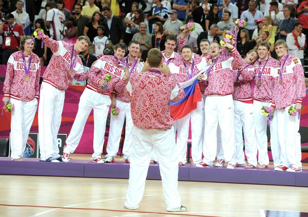 Игроки сборной России по баскетболу