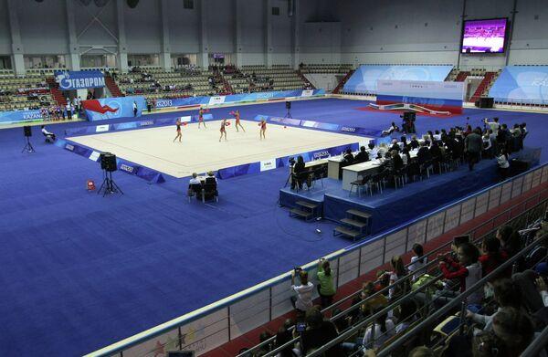 Соревнования на чемпионате России по художественной гимнастике