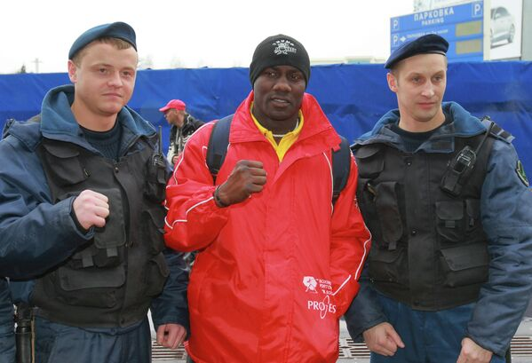 Прилет в Москву участников боксерского турнира Звездный ринг