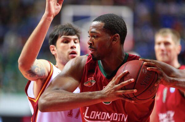 Игровой момент матча Локомотив-Кубань - Галатасарай