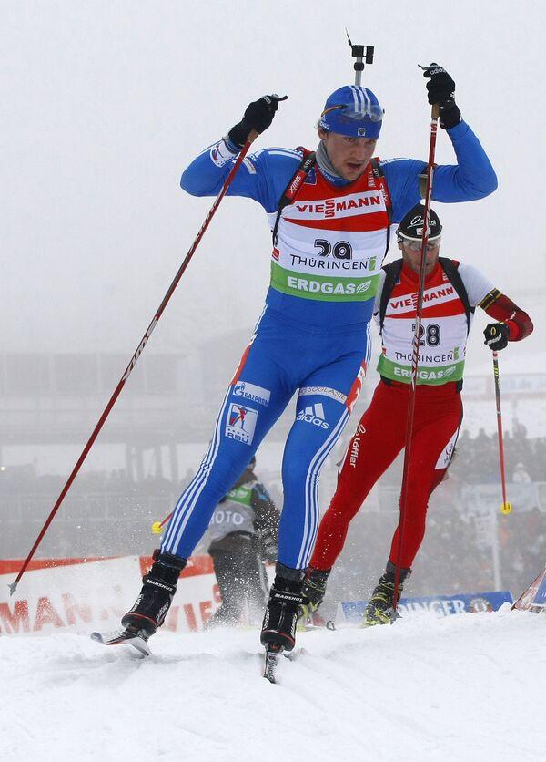 Виктор Васильев и австриец Даниэль Мезотич (слева направо)