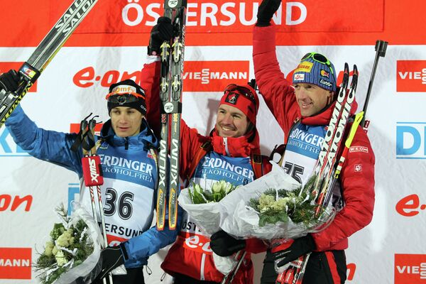 Алексис Беф, Жан-Филипп Легеллек и Кристоф Зуман (слева направо)