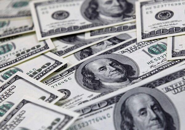 Долларовые купюры. Архив
