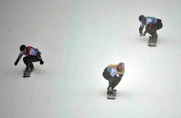 Андрей Болдыков (Россия), Пьер Вольтье (Франция) и Ллуис Марин Тарроч (Андорра) (слева направо)